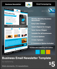 e-newsletter layout